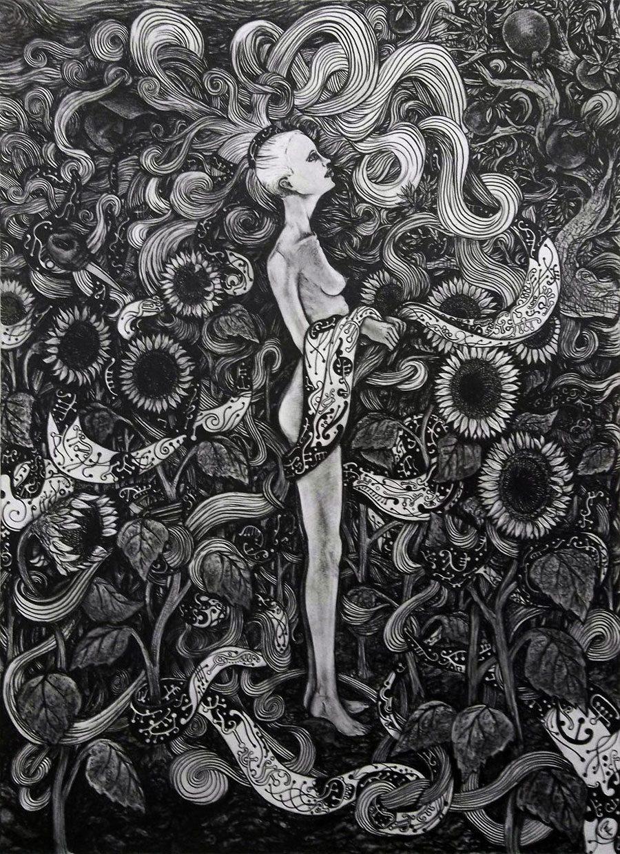 Hair 5afc580b316f7  880 - «Мати Земля – брудна повія»: Художник малює картини про сучасний світ - Заборона