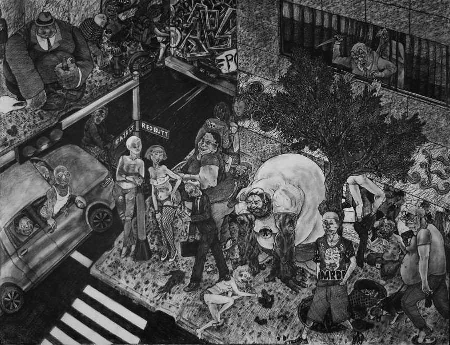 Shitty Life 52x48 5afc59baf33d7  880 - «Мати Земля – брудна повія»: Художник малює картини про сучасний світ - Заборона