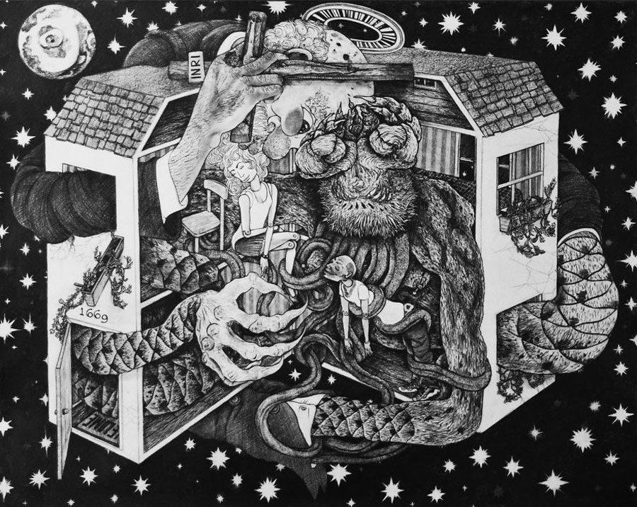 The Dollhouse 35x44 5afc59dd9528c  880 - «Мати Земля – брудна повія»: Художник малює картини про сучасний світ - Заборона