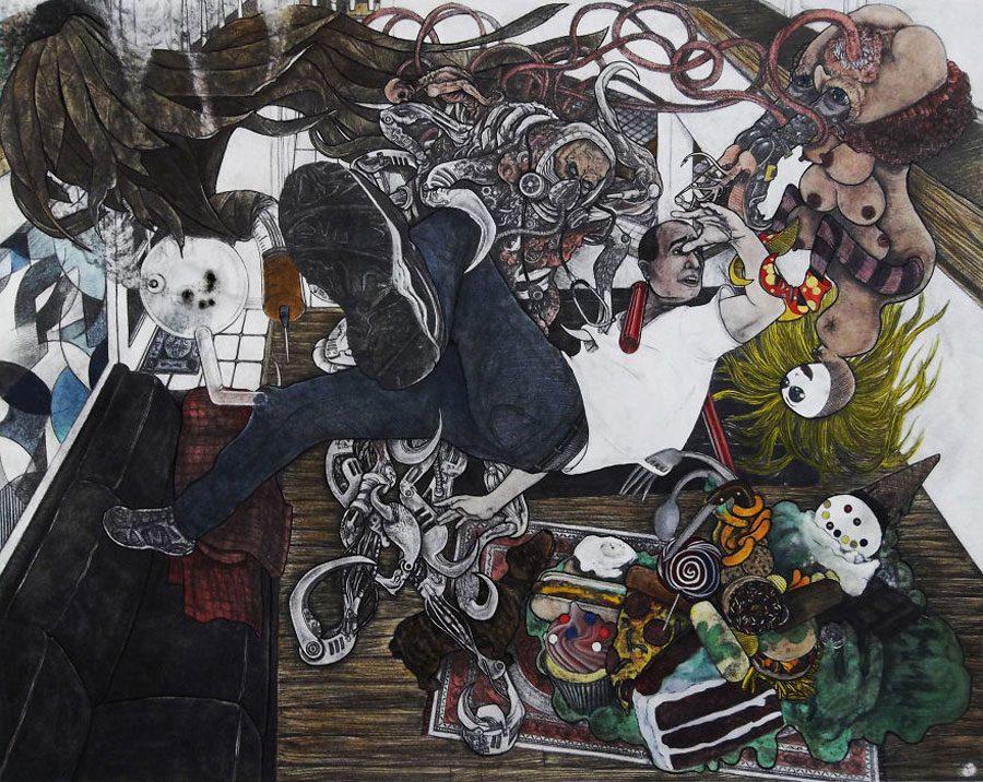 The Torment of Saint Anthony 5afc585054193  880 - «Мати Земля – брудна повія»: Художник малює картини про сучасний світ - Заборона