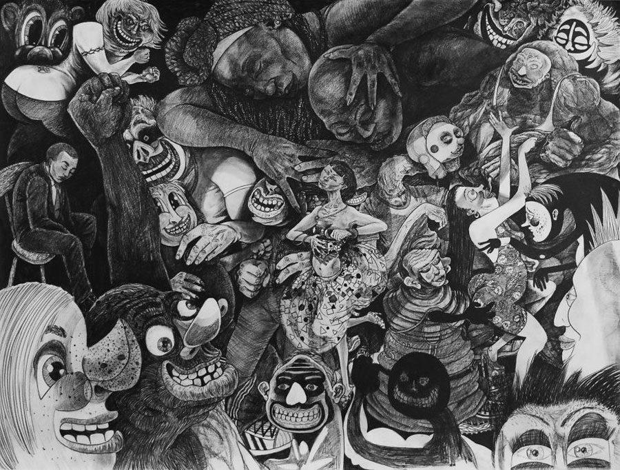 dance party 44x35 5afc595620439  880 - «Мати Земля – брудна повія»: Художник малює картини про сучасний світ - Заборона