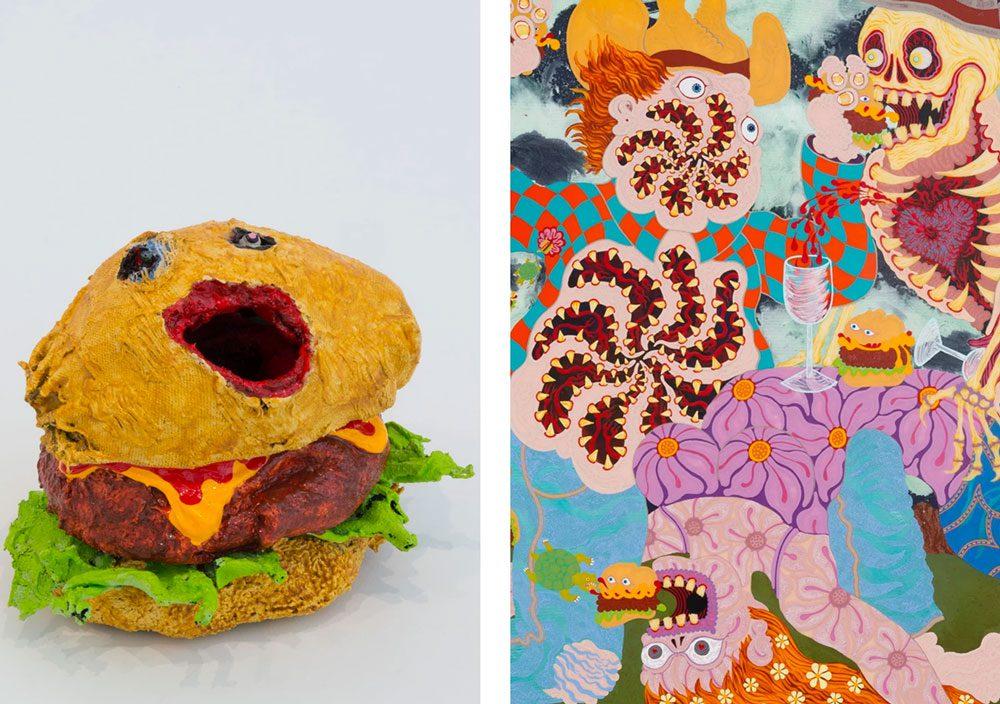 nightmarish burger 4 - Художник глузує з Трампа за допомогою шкарпеток - Заборона