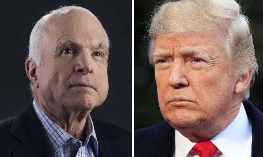 27082018 news 4 - Трамп заборонив Білому дому називати Маккейна героєм у заяві - Заборона