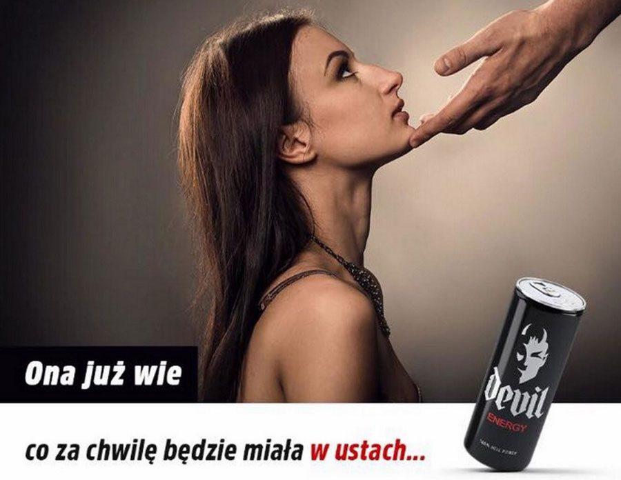 Devil Energy screen - «Вона вже знає, що буде у неї в роті»: У Польщі заборонили принизливу рекламу - Заборона