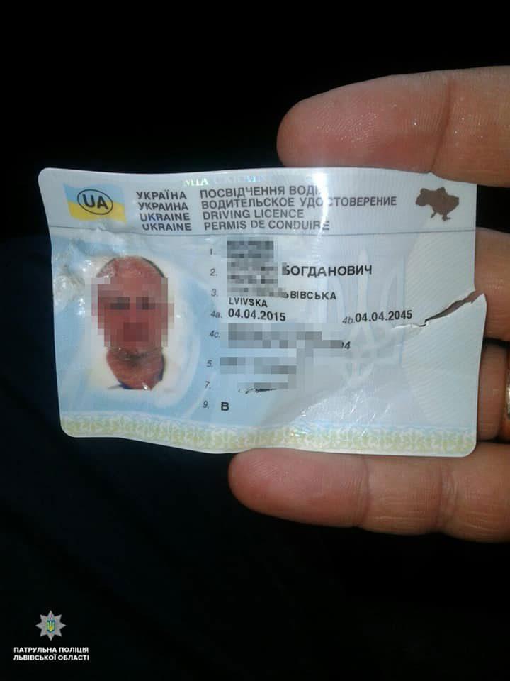 43587008 1944362122532217 8954255467761106944 n - Водій у Львові намагався з'їсти пластикове посвідчення. Він вкусив патрульного - Заборона