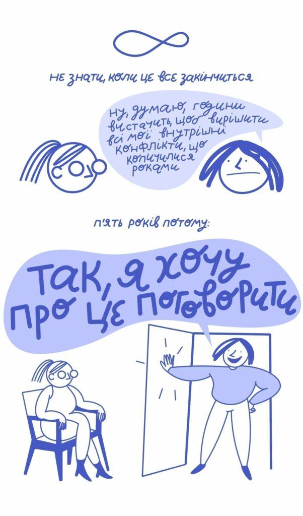12 1 602x1024 - <b>5 лет психотерапии за 5 минут.</b> Комикс Жени Олейник - Заборона