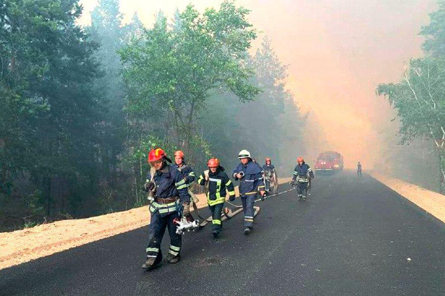 foto dsns ukrayiny 3 - <b>В Луганской области несколько дней горят леса.</b> Вместе с пострадавшим от пожара рассказываем, что произошло - Заборона