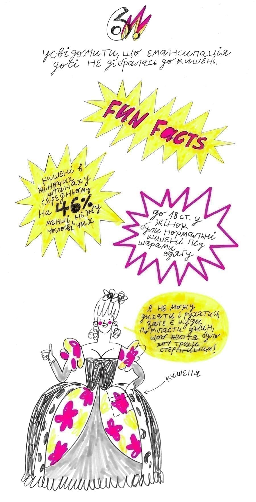 7 8 - <b>Мої штани.</b> Комікс Жені Олійник про нерівність у звичному - Заборона