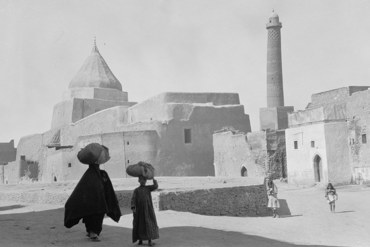 ancient mosul a yezidi shrine to the left and the nouri mosque minaret to the right - <b>Khadija and Her Boys.</b> What It's Like Searching for Family Lost in the Islamic State - Заборона