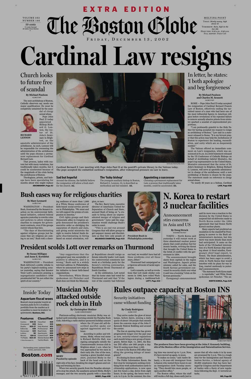 Церковь и дети. Как педофильный скандал в Бостоне в начале 2000-х изменил отношение к церкви