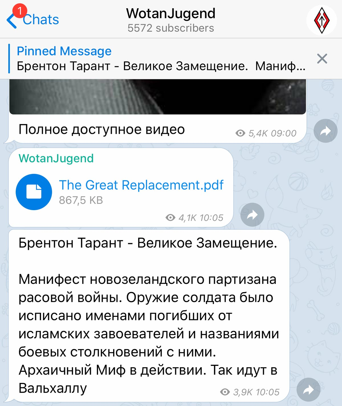 """wotan jugend 02 - <b>""""Literal Terrorism"""" and """"Wotan Youth"""".</b> How the Ultra-Right in Ukraine Use Telegram to Promote Their Ideas - Заборона"""