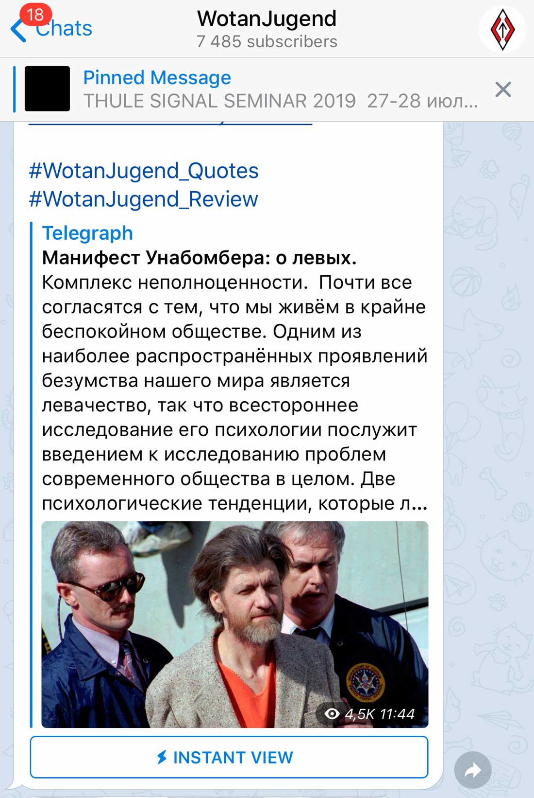 """wotan jugend 05 - <b>""""Literal Terrorism"""" and """"Wotan Youth"""".</b> How the Ultra-Right in Ukraine Use Telegram to Promote Their Ideas - Заборона"""