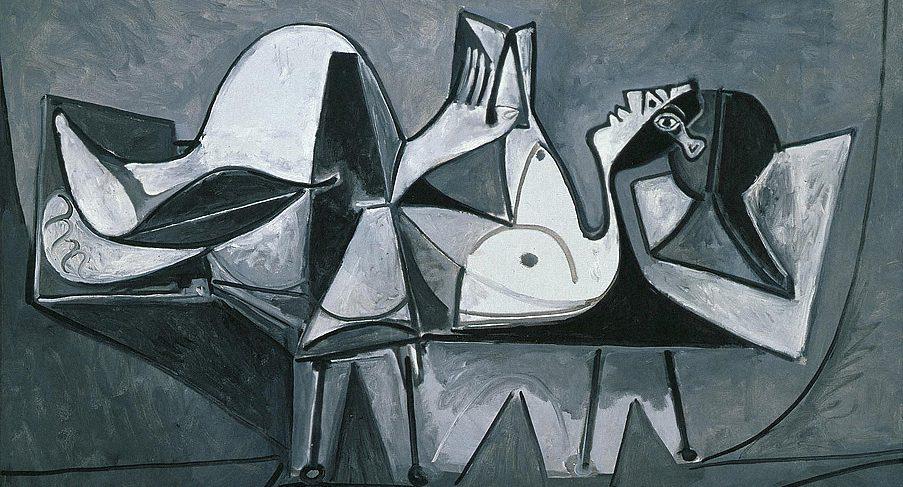 Пабло Пикассо. Лежащая читающая женщина. 1960