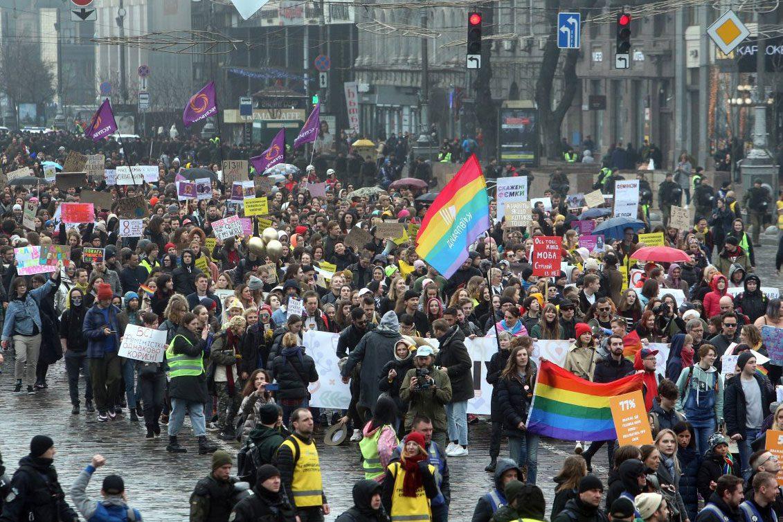 womens march 04 1 - <b>«От Елены Зеленской мы получили отказ».</b> Как готовят марш за права женщин — с упором на безопасность и без поддержки государства - Заборона