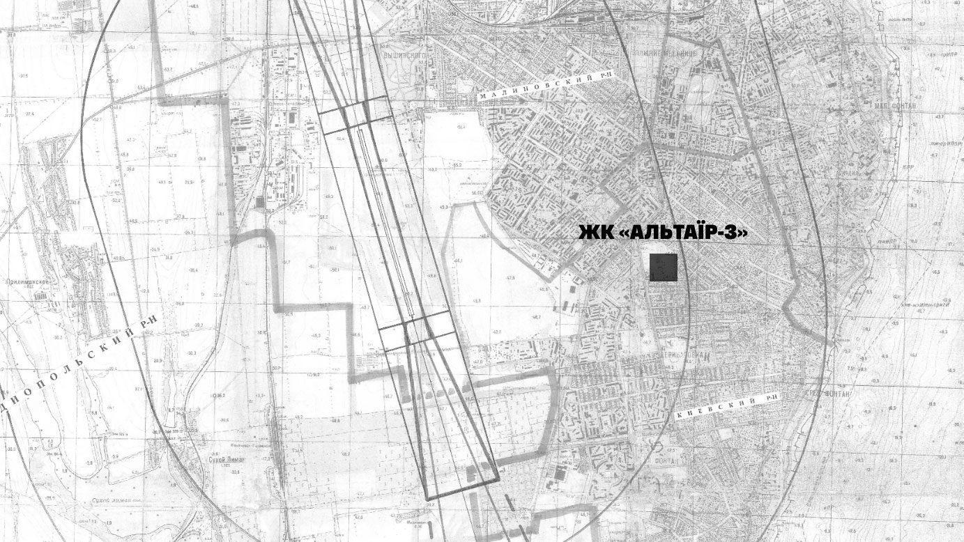 altair3 map ua - <b>75 метрів беззаконня.</b> В Одесі будують житловий комплекс, що загрожує польотам і держбезпеці - Заборона