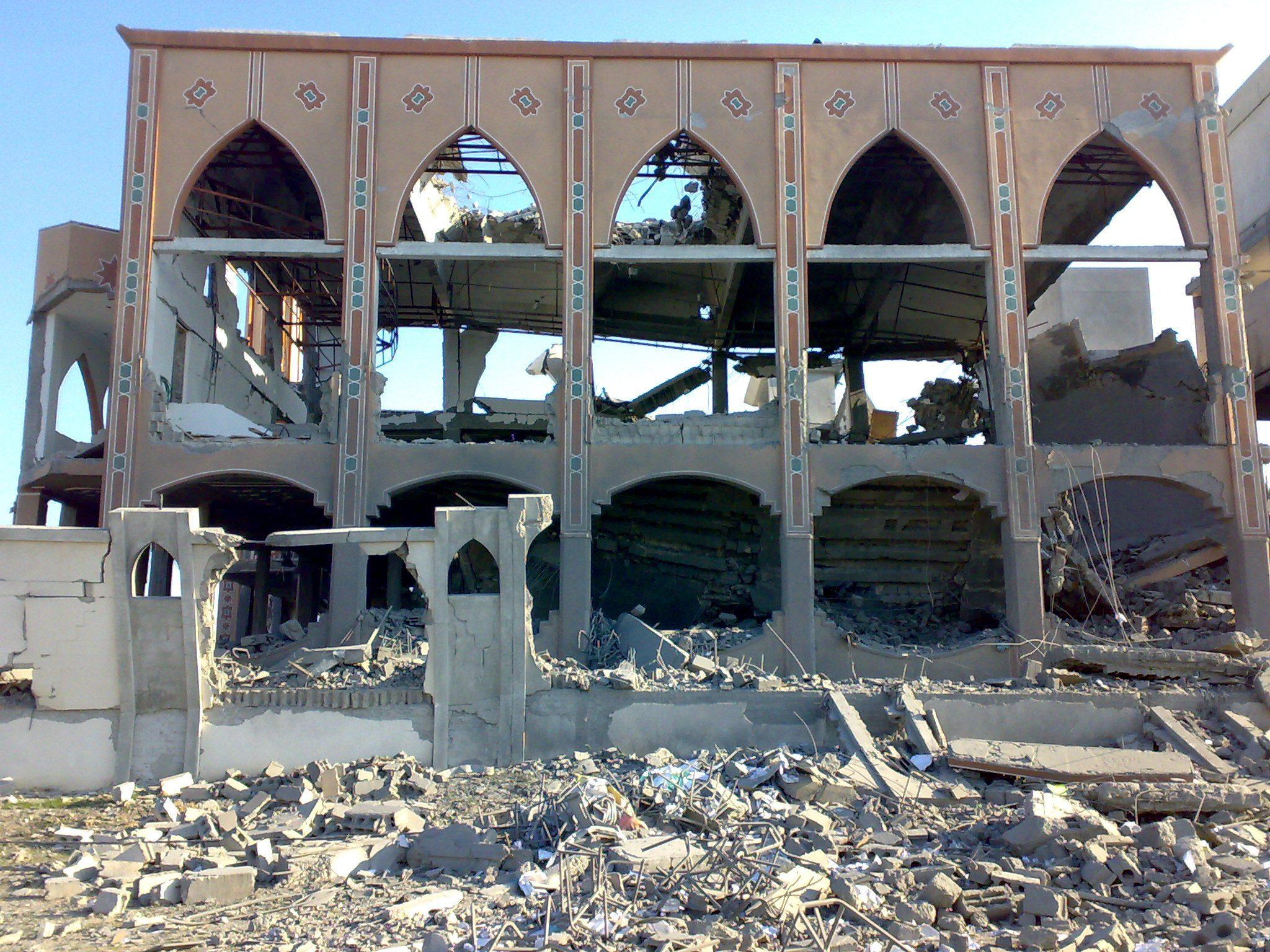 destroyed mosque 01 - <b>Ізраїль звинувачують у злочинах проти людяності та апартеїді.</b> Що сталося та чому країни поки не підтримують ці обвинувачення - Заборона