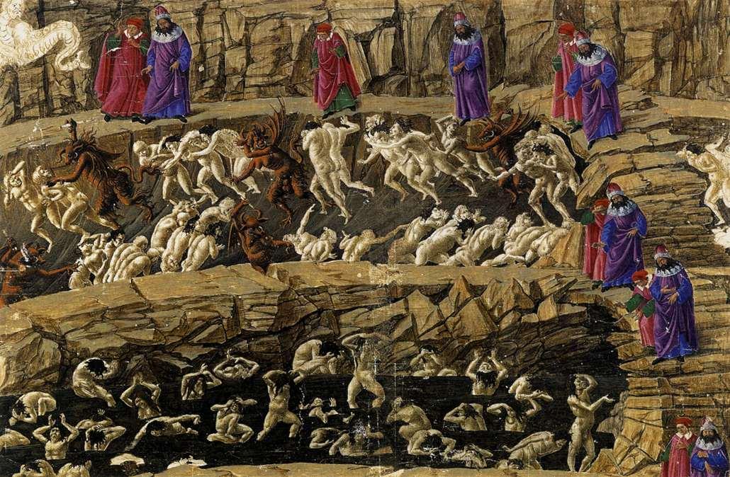 sandro botticelli nferno canto xviii - <b>Чому добро (не) перемагає зло.</b> Філософський експлейнер Заборони - Заборона