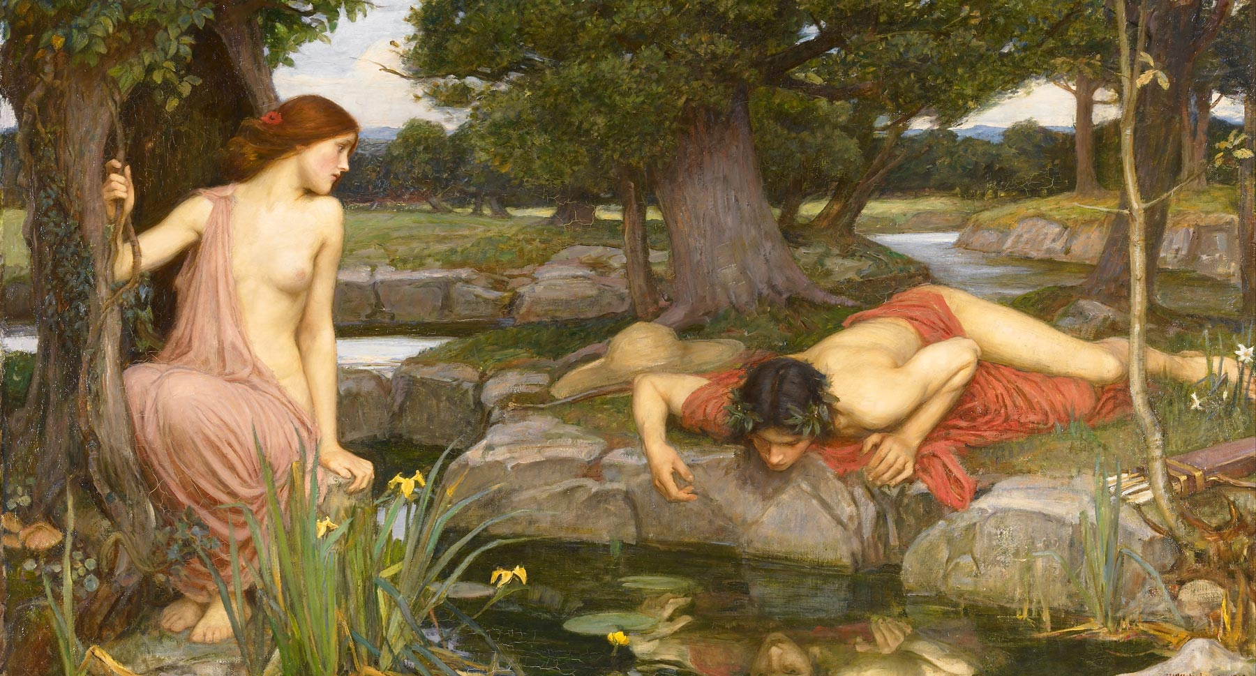 john william waterhouse echo and narcissus - Главная - Заборона