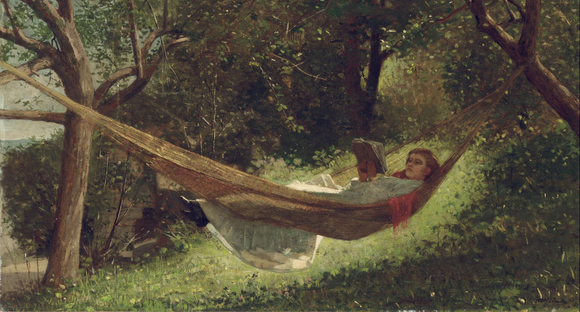 winslow homer girl in the hammock cover - Главная - Заборона