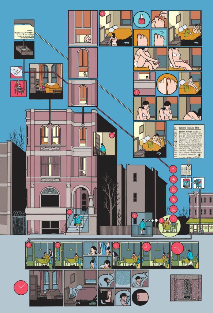 building stories 01 696x1024 - <b>«Персеполіс», «Лівобережна банда» та періодичне видання про вигадане місто</b> — огляд коміксів від учасників дискусії на «Книжковому арсеналі» - Заборона