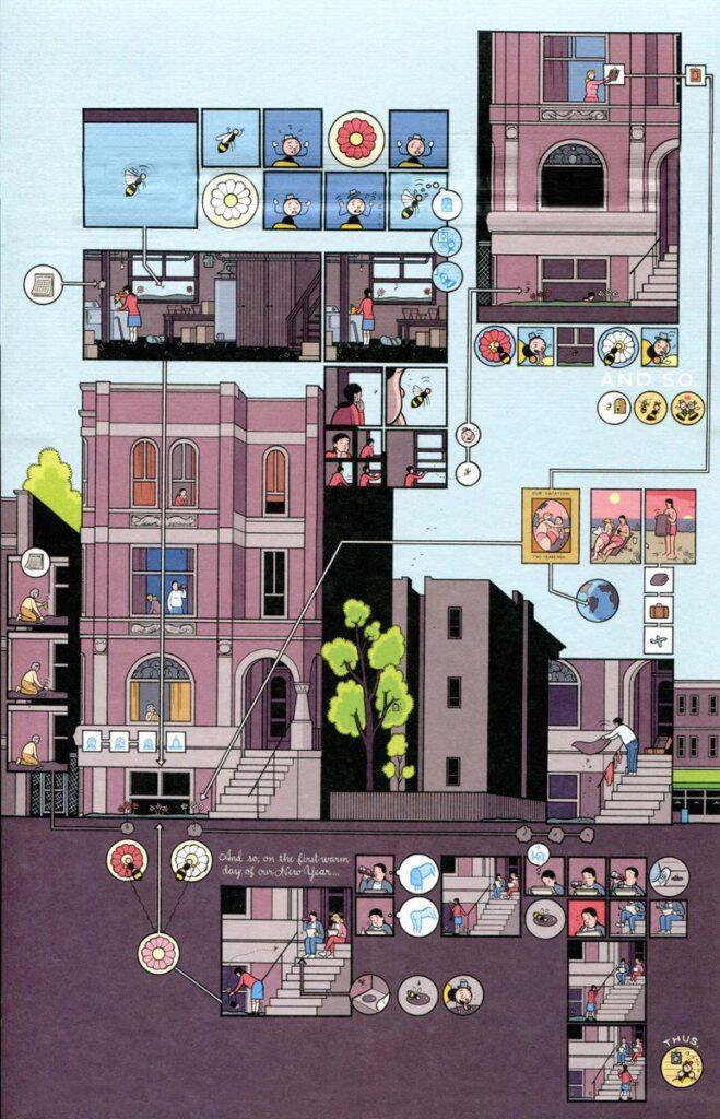 building stories 03 659x1024 - <b>«Персеполіс», «Лівобережна банда» та періодичне видання про вигадане місто</b> — огляд коміксів від учасників дискусії на «Книжковому арсеналі» - Заборона