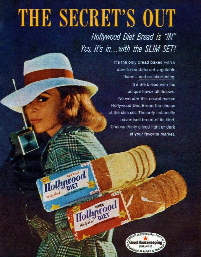 hollywood diet bread 1960s 800x1024 - <b>Таблетки для похудения, ленточные черви и жидкие заменители пищи:</b> как индустрия диет заставляет нас тратить деньги ради мнимых стандартов красоты - Заборона
