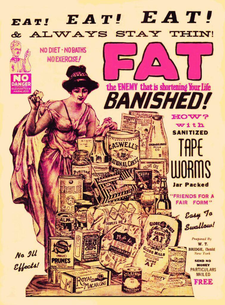 tapeworm diet no ill effects 755x1024 - <b>Таблетки для похудения, ленточные черви и жидкие заменители пищи:</b> как индустрия диет заставляет нас тратить деньги ради мнимых стандартов красоты - Заборона