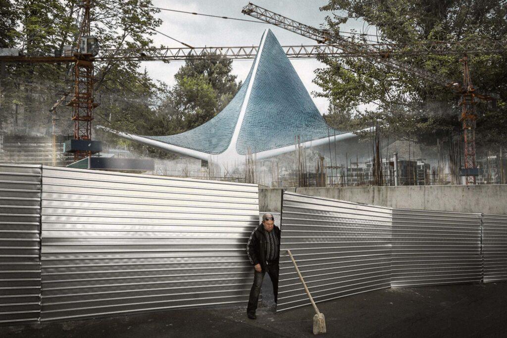 modernism zaborona 2 1024x683 - <b>Модернізм під екскаватором.</b> Заборона уявила, що буде, якщо знести світові пам'ятки модернізму - Заборона