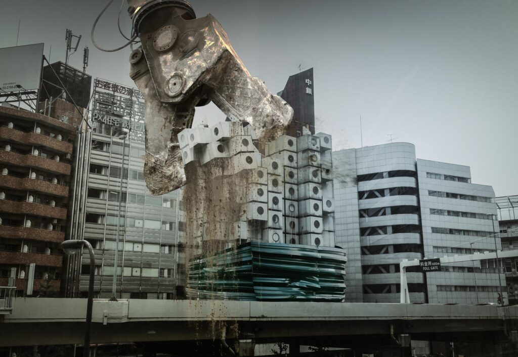 modernism destruction 01 1024x706 - <b>Модернізм під екскаватором.</b> Заборона уявила, що буде, якщо знести світові пам'ятки модернізму - Заборона