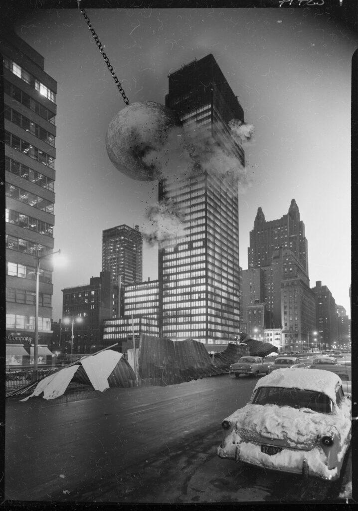 modernism destruction 04 718x1024 - <b>Модернізм під екскаватором.</b> Заборона уявила, що буде, якщо знести світові пам'ятки модернізму - Заборона