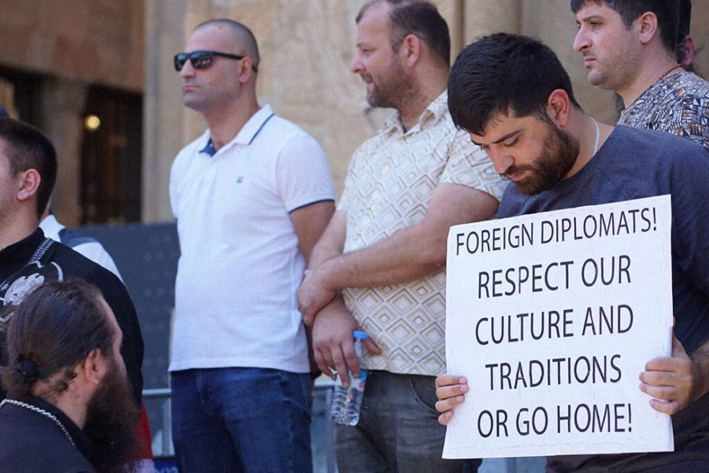 tbilisi pride 21 1024x683 - <b>Gay Pride in Tbilisi has been viciously attacked.</b> Authorities turned a blind eye as participants and journalists were beaten - Заборона