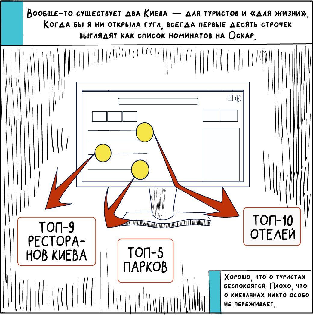 comics about kyiv 03 - <b>«Собі побібікай!»</b> Комікс Анастасії Оприщенко про те, що дратує в Києві найбільше - Заборона