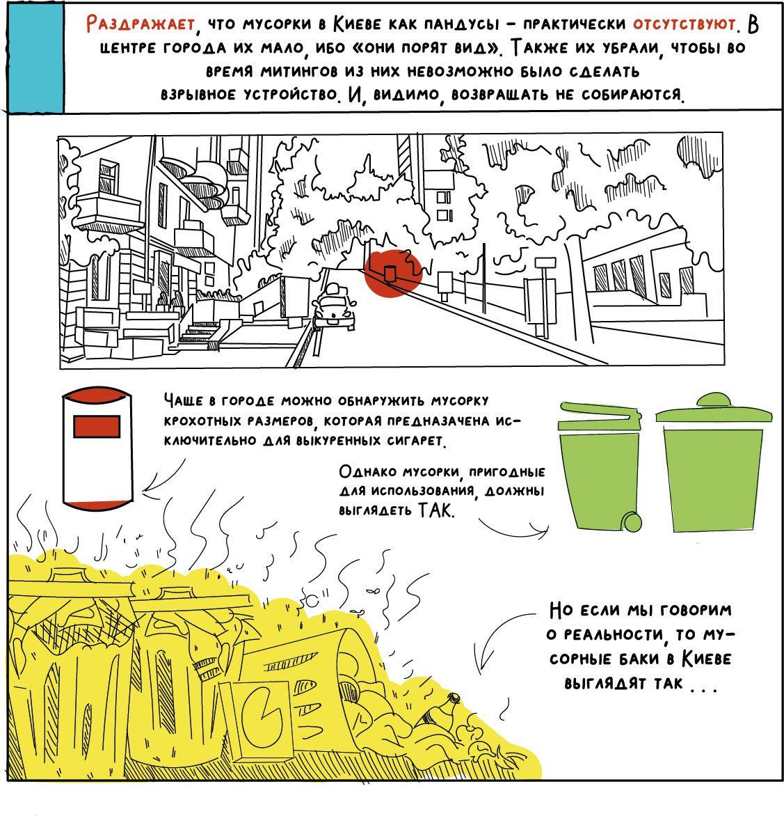 comics about kyiv 14 - <b>«Собі побібікай!»</b> Комікс Анастасії Оприщенко про те, що дратує в Києві найбільше - Заборона