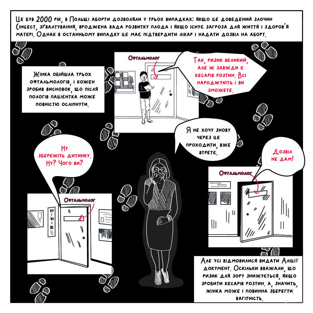 abortion in poland comics ua 02 - <b>Вам заборонені аборти.</b> Комікс Насті Оприщенко про те, як в Польщі обмежують права жінок - Заборона