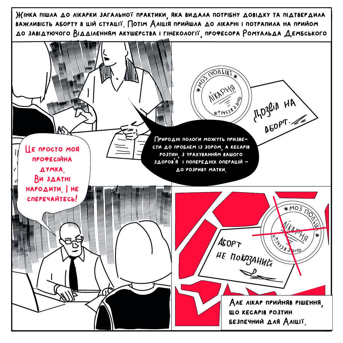 abortion in poland comics ua 03 - <b>Вам заборонені аборти.</b> Комікс Насті Оприщенко про те, як в Польщі обмежують права жінок - Заборона