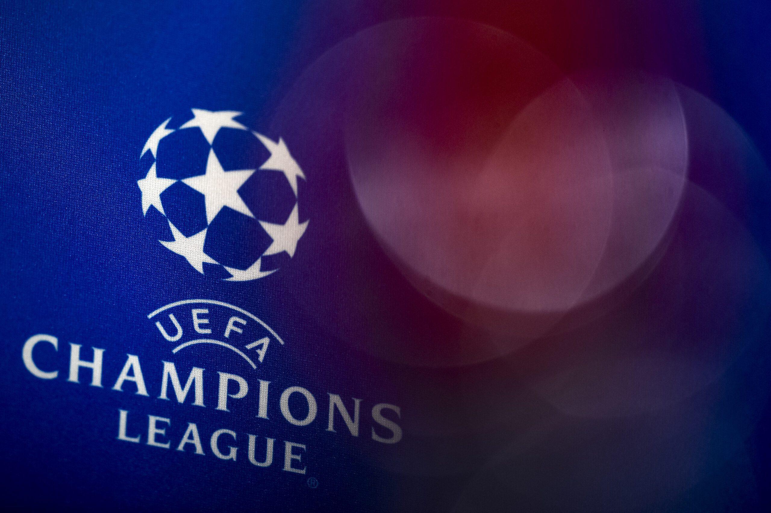Логотип Ліги Чемпіонів УЄФА. Фото: Nicolò Campo/LightRocket via Getty Images